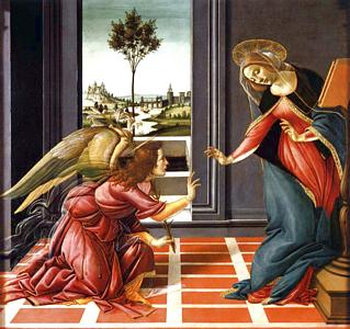 Botticelli, l'Annonciation. 1489