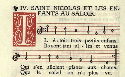 Saint Nicolas, partition