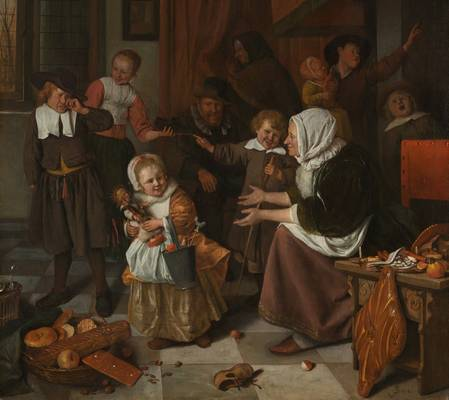 Fete saint Nicolas par Jan Steen